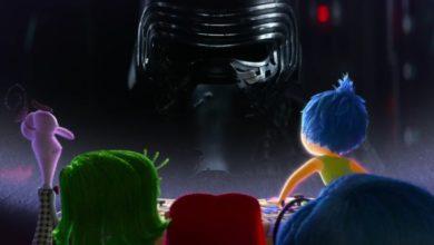 Photo of Die Charakter aus Alles steht Kopf schauen sich den Star Wars Trailer an