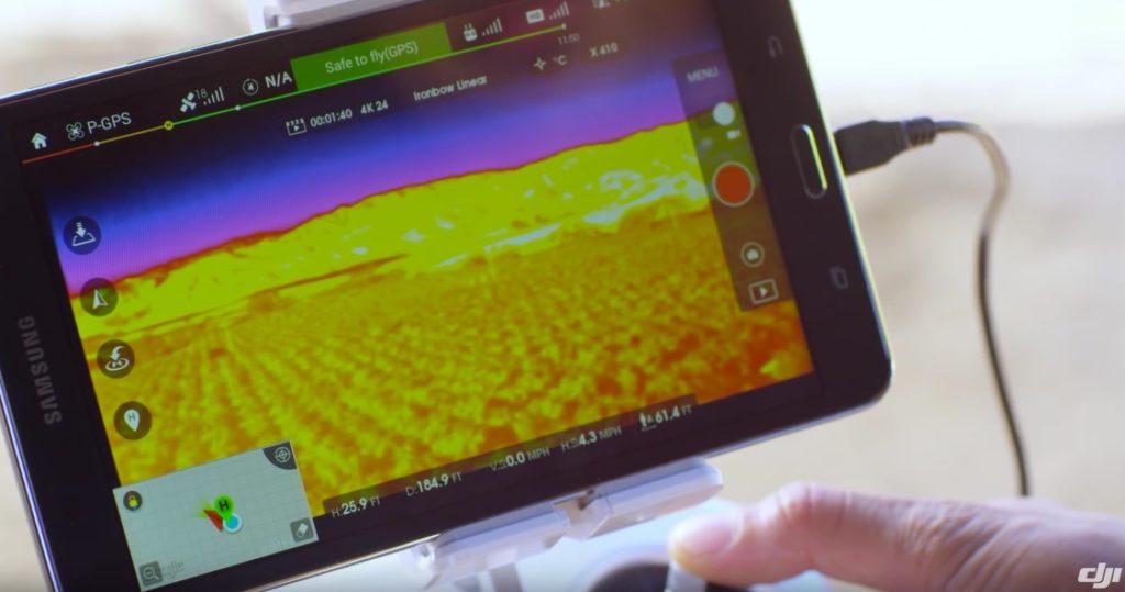 Alles im Blick: Auf dem Tablet wird das Wärmebild in Echtzeit angezeigt.