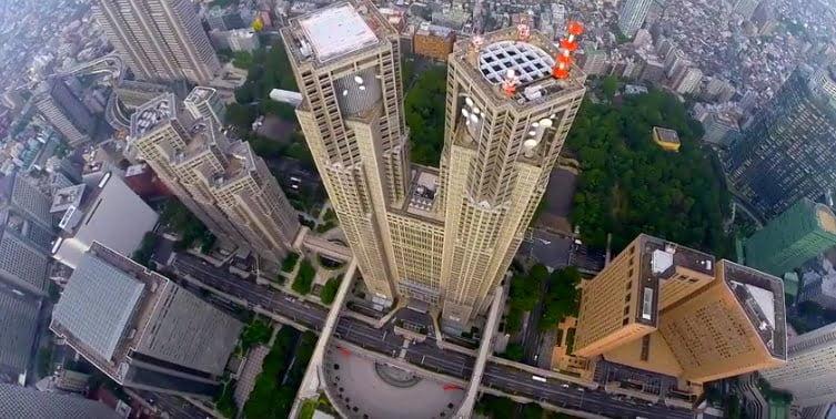 Tokyo per Drohne