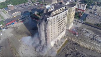 Photo of Sprengung des Park Avenue Hotels in Detroit