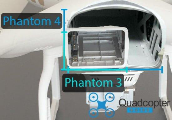 Batterievergleich Phantom 3 und Phantom 4