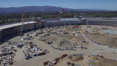 Photo of Überflug über den Apple Campus 2 im Oktober 2016
