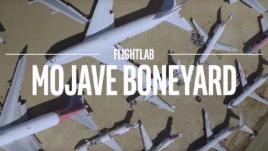 Photo of Das Intel Flight Lab rast über den Mojave Boneyard Flugzeugfriedhof