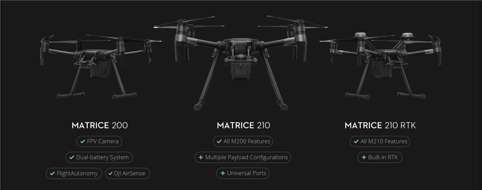 DJI Matrice 200 Modellreihe
