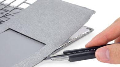Bild von iFixit: Microsoft Surface Laptop und Surface Pro im Teardown