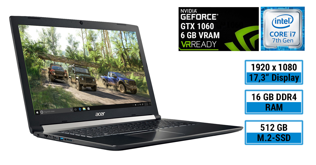 Photo of Acer Aspire 7 A717-71G-721V – Gaming-Notebook im schlichten Design, aber mit starker Hardware