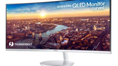 Bild von Samsung QLED Curved Monitor CJ791 mit Thunderbolt 3