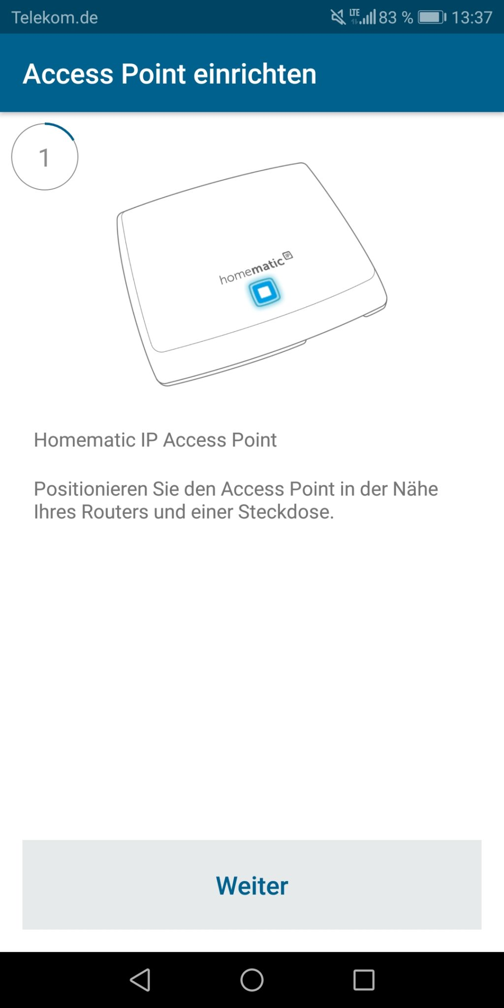homematic ip wasseralarm smart home app einrichten 1. Black Bedroom Furniture Sets. Home Design Ideas