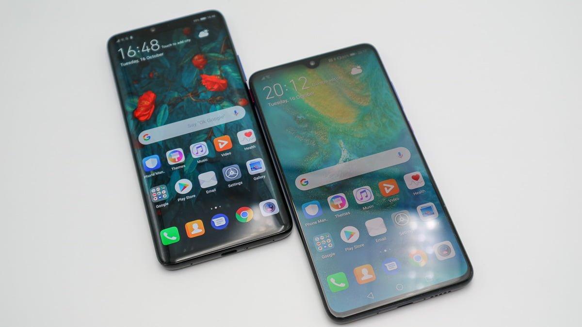 Huawei Mate 20Pro (links) uawei Mate20 (rechts)