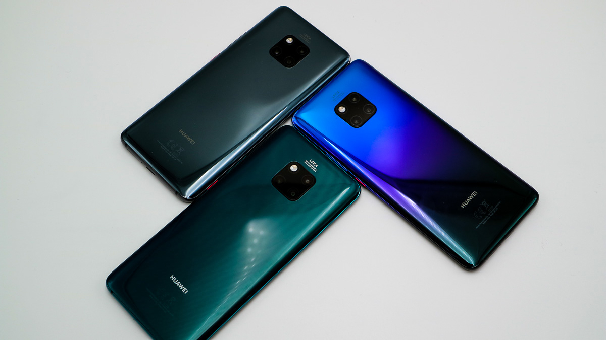 Huawei Mate 20Pro in den Farben: Black, Twilight und Emerald Green