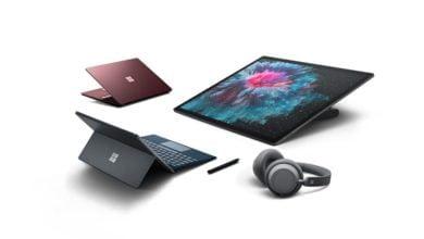 Bild von Microsoft Surface Pro 6, Surface Laptop 2, Surface Studio 2 und Surface Headphones vorgestellt