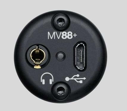 Shure MV88+ Anschlüsse