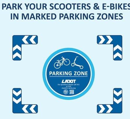 Parking Zone Scooter und E-Bikes