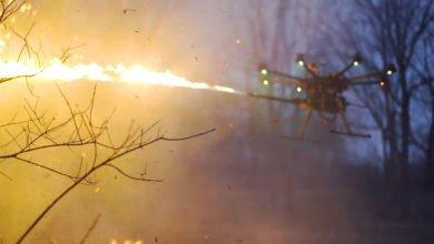"""Bild von """"Feuer Frei!"""" mit der Flammenwerfer Drohne von Throwflame"""