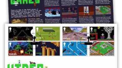 Photo of Die Royal Mail bringt Briefmarken mit Motiven aus beliebten (Retro) Games raus