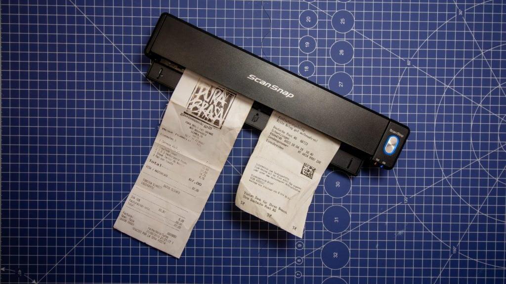 Fujitsu Scansnap Ix 100 Mobiler Scanner Mit Akku Im Test